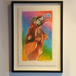 "Hilikilp Eagle Dancer, Pastel on paper, 23"" x 15"", $2,500 CAD framed"