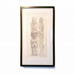 "Totem pole Original Drawing - Beau Dick (Kwakwaka'wakw) - Graphite on paper - 13"" x 24"" x 1"" - POR"