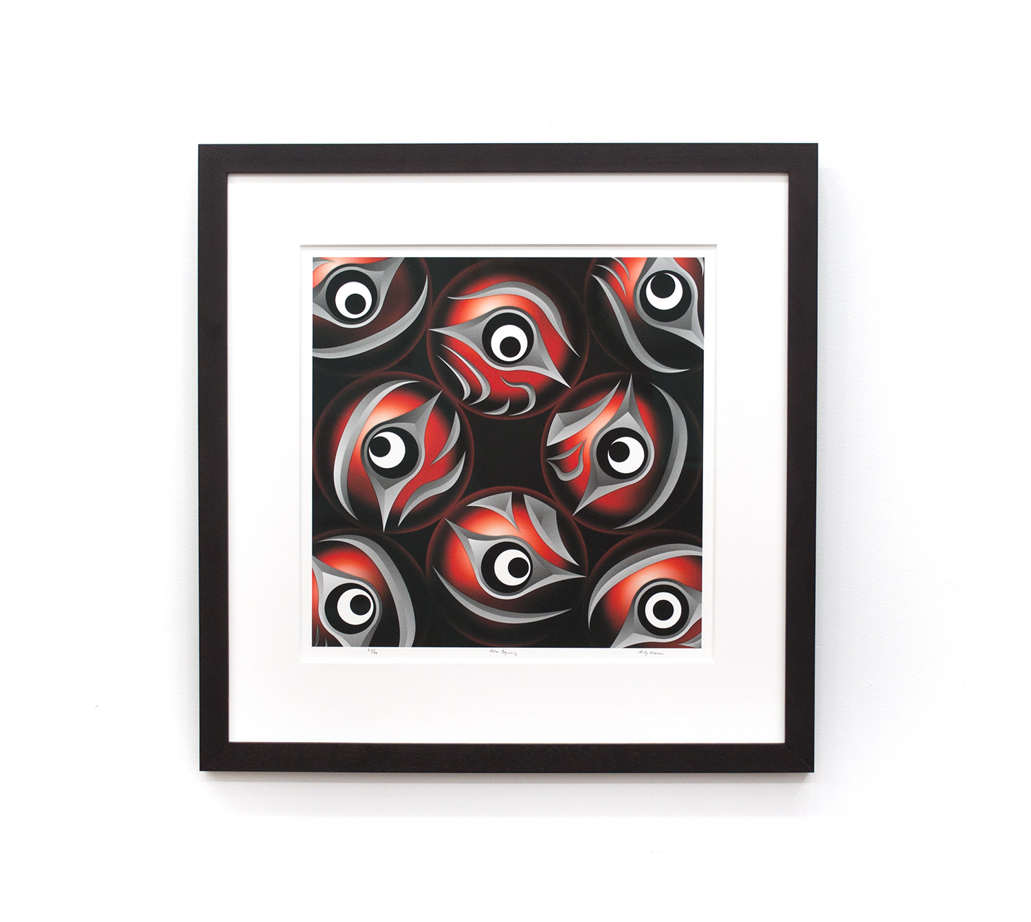 "New Beginning, Andy Everson (Salish & Kwakwaka'wakw), Giclee ed. /99, 23.5"" x 24"", $600 framed"