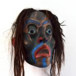 "Yo'lakwame Mask, Beau Dick (Kwakwaka'wakw), Red cedar, acrylic, and horsehair, 20"" x 36"" x 10"" (including hair), SOLD"