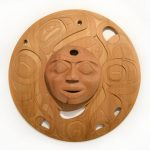 "When The Eclipse Broke Through, Rande Cook (Kwakwaka'wakw), Hand carved red cedar, 39"" x 39"" x 7"", SOLD"