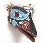 "Loon Mask, Alan Hunt (Kwakwaka'wakw), Red cedar and acrylic, 7"" x 16"" x 8"", SOLD"
