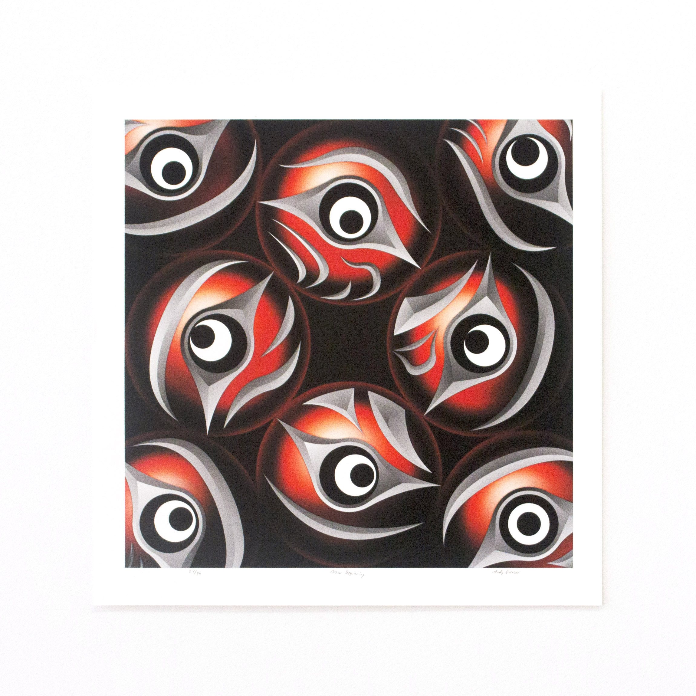 "New Beginning, Andy Everson (Salish & Kwakwaka'wakw), Giclee ed. /99, 17"" x 17"", $200 unframed"