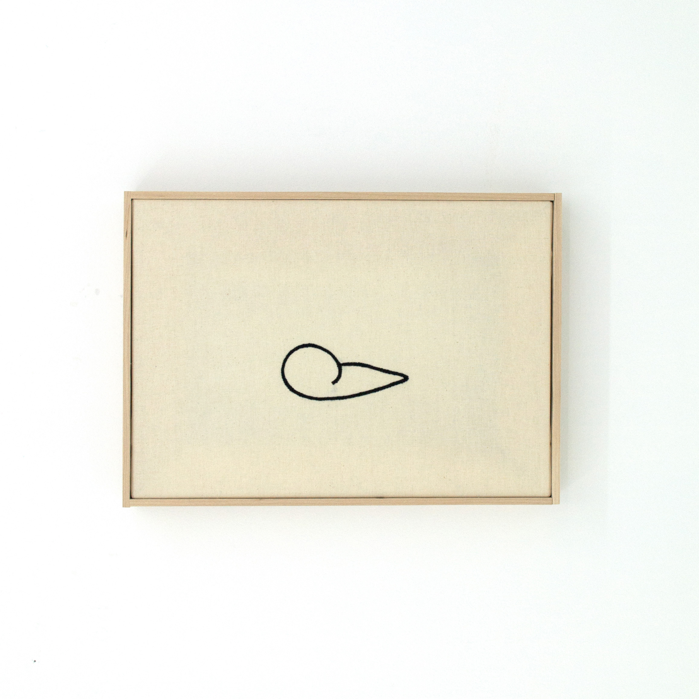 "Tlajtoa (Speak), Carlos Colín, Embroidery on unbleached cotton with wooden frame, 14.5"" x 10.5"", $800"