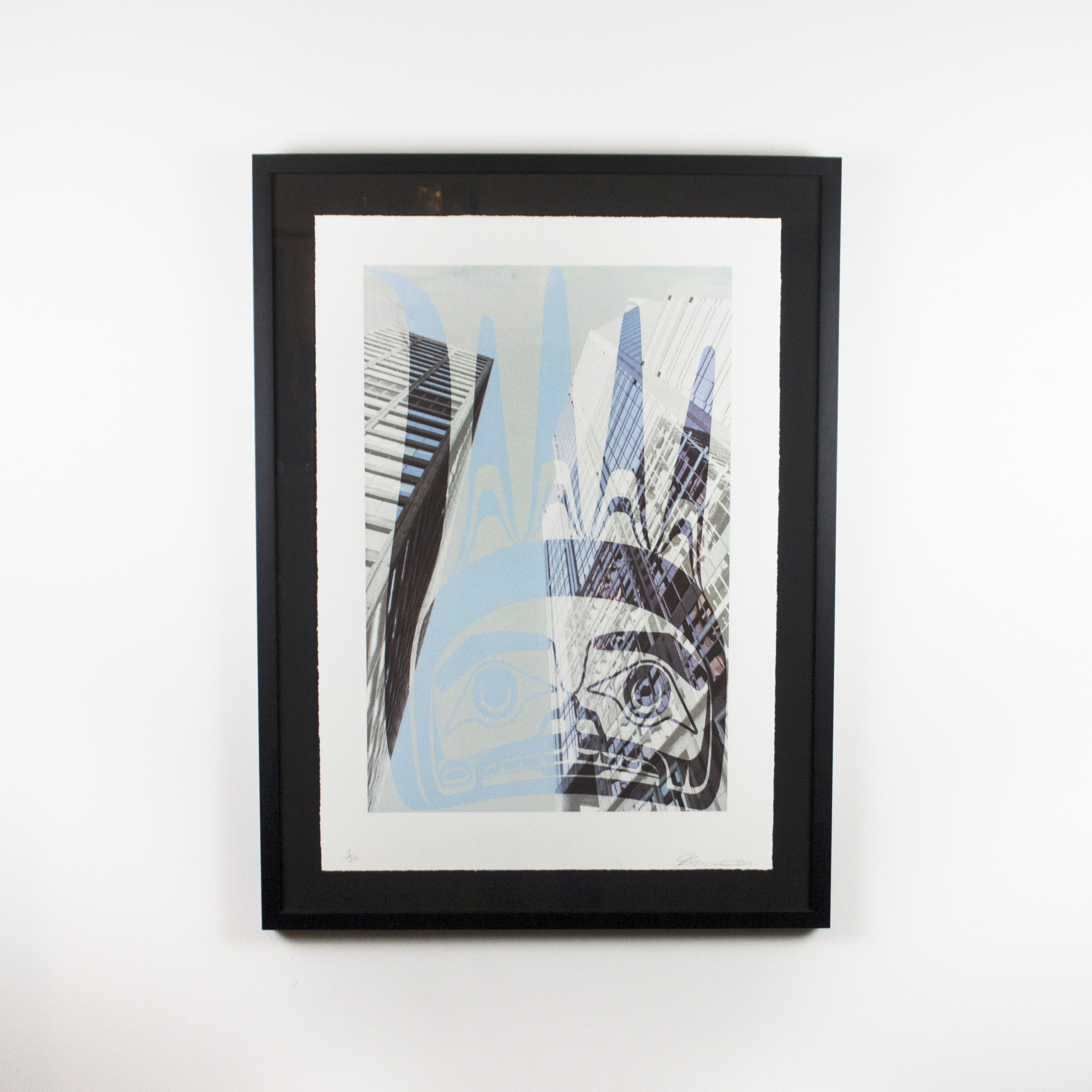 "Caught in the Grip, John Bennett (Haida), Limited edition lithograph /28, 32 3/4"" x 24 1/2"", $800 framed"