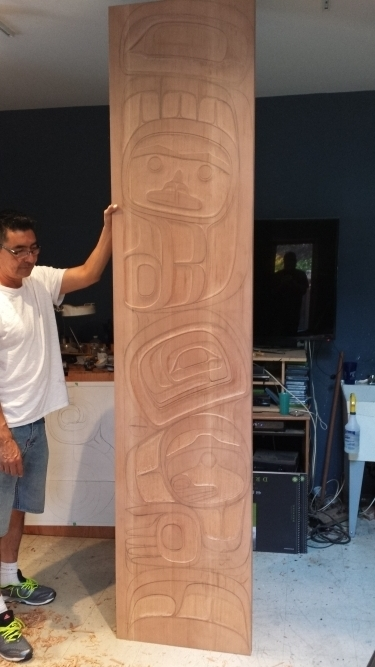 Custom Carved Panels process, Phil Gray (Tsimshian), (4) 2' x 9'