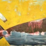 "Graffiti Scape #3, Rosa Quintana Lillo, Mixed media and acrylics on canvas board, 24"" x 80"" x 1 ½"", $2,600"