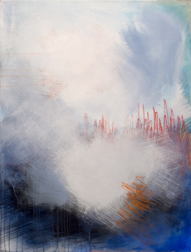 "Memory I, Joyce Ozier, Acrylic & oil pastel on canvas, 40"" x 30"" x 1 1/2"", $2,200"