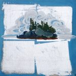 "Island Study #9, Rosa Quintana Lillo, Mixed Media, 12"" x 12"" x 1 1/2"", $250"
