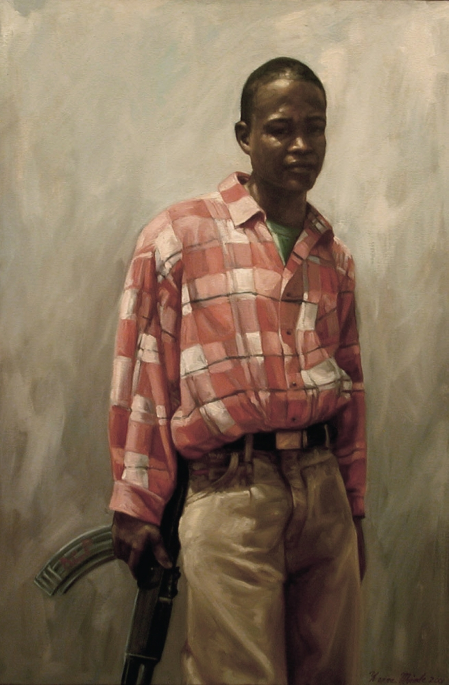 "Anthony, Yvonne Muinde, Oil on canvas, 36"" x 24"", SOLD"
