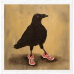 """Raven Runner, Trace Yeomans( Haida), Limited edition #/20, 12"""" x 12"""" (image size), $100 unframed"""
