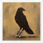 "Ballerina Raven, Trace Yeomans (Haida), Limited edition #/20, 12"" x 12"" (image size), SOLD"