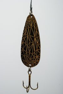 Baleen Lure (2015) - Couzyn van Heuvelen (Inuk) - Baleen, fish hook, thread, brass
