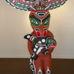 Eagle, Bear, Killer Whale Totem Pole - Beau Dick (Kwakwaka'wakw) - 8' - SOLD