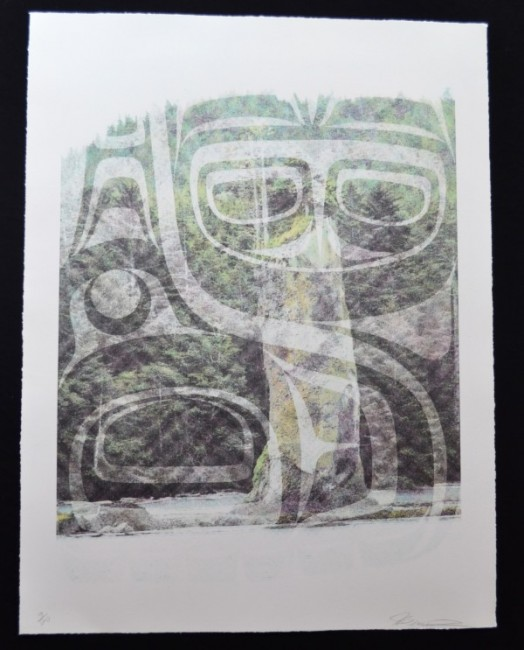 "Pillar Whale by John Bennett (Haida) Limited edition lithograph 9/20 32"" x 25 1/2"" $750.00 framed"