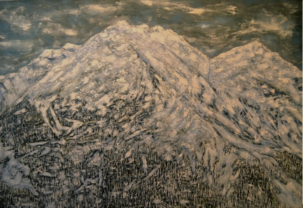 Trace Yeomans - Winter Summit. Oil on canvas. 6' x 4' $5,000