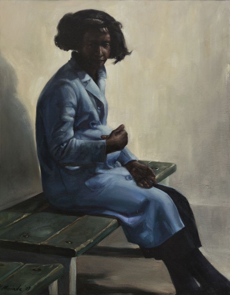 "Claire, 2012, Yvonne Muinde, Oil on canvas, 24"" x 30"", $4,300"