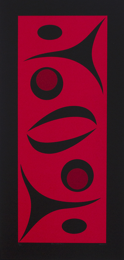 "Procreation, 2007, lessLIE (Salish), Serigraph ed/100, 21.5"" x 10.5"", $250"