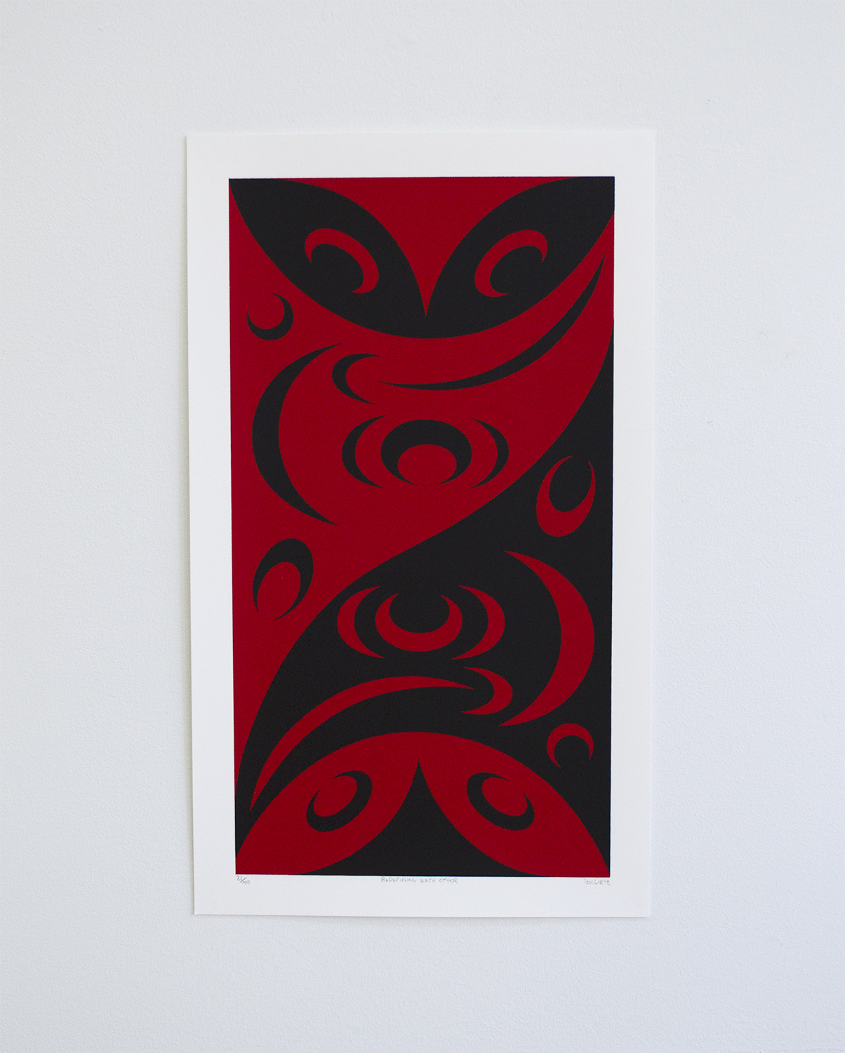 "Redefining Each Other, 2012, lessLIE (Salish), Serigraph ed/100, 19"" x 11.5"", $300"