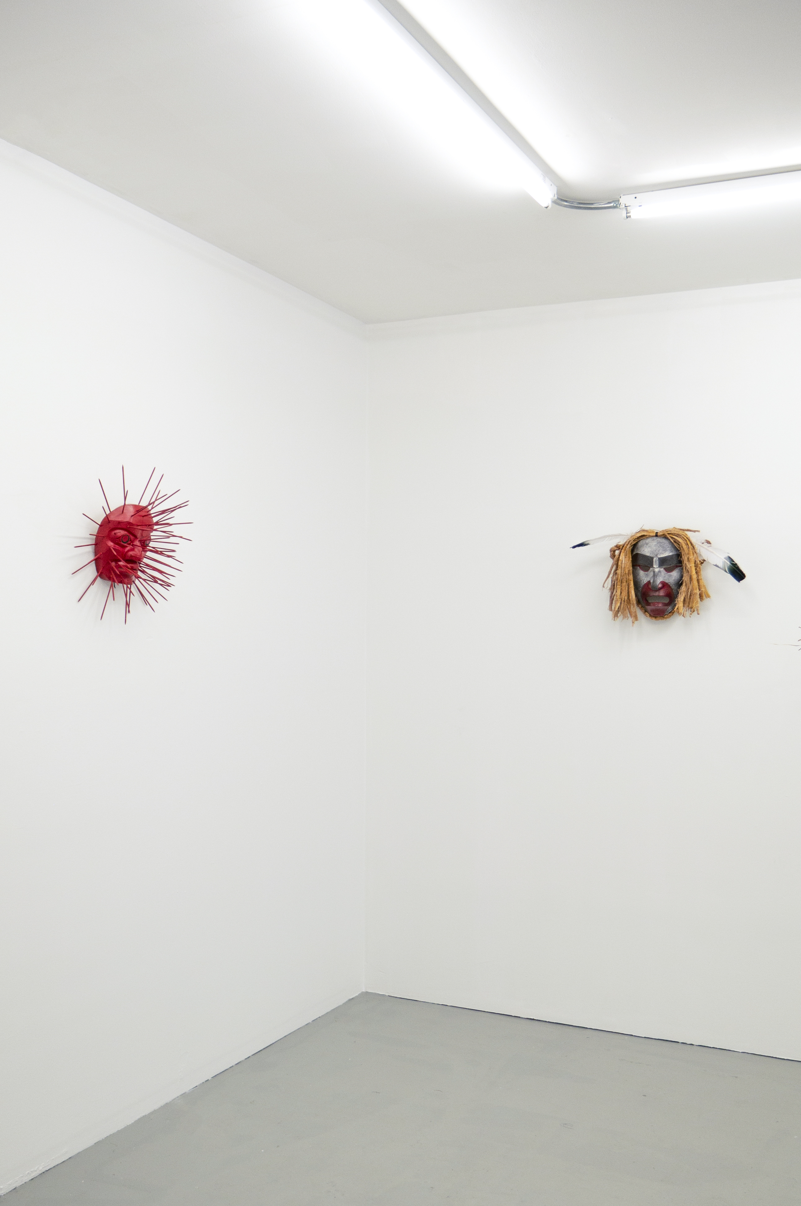 Urchin Mask (left), Alan Hunt; Bookwus Ghost (right), Cole Speck