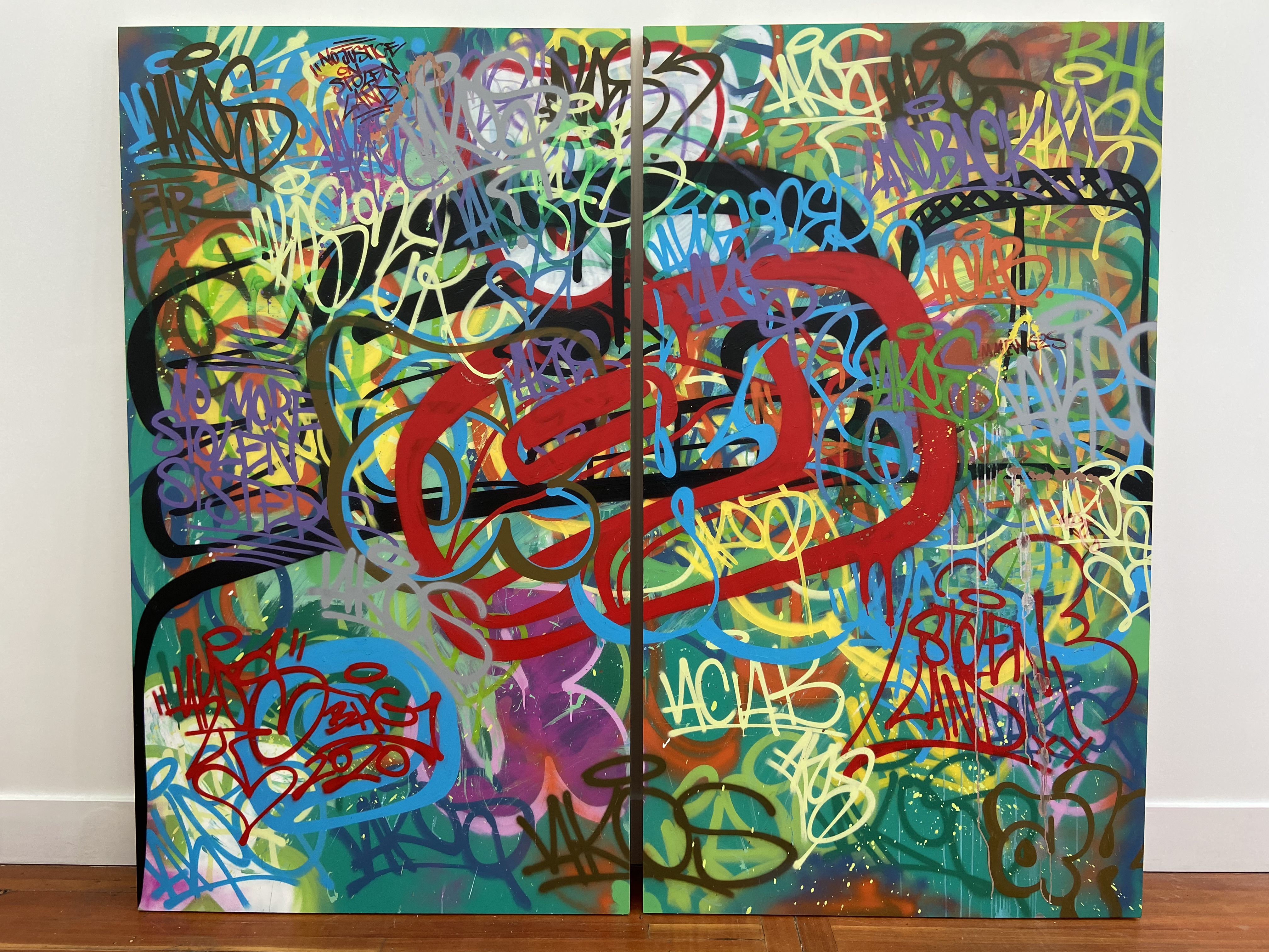 Reclaimed Spaces (diptych), 2020