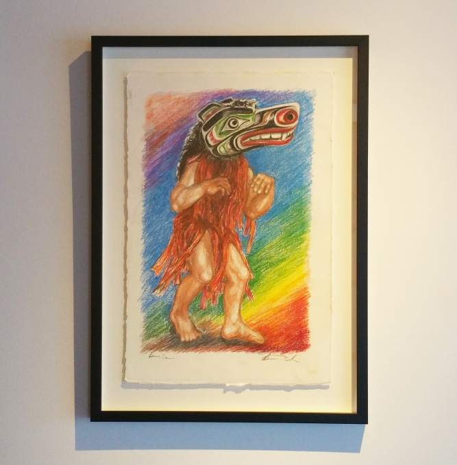 "Bear Dancer, Pastel on paper, 23"" x 15"", $2,500 CAD framed"