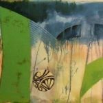 "Graffiti Scape #2, Rosa Quintana Lillo, Mixed media acrylics on canvas board, 24"" x 80"" x 1 ½"", $2,600"
