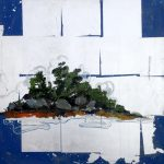 "Island Study #41, Rosa Quintana Lillo, Mixed Media, 24"" x 24"" x 1 1/2"", $900"