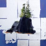 "Island Study #40, Rosa Quintana Lillo, Mixed Media, 24"" x 24"" x 1 1/2"", $900"