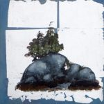 "Island Study #4, Rosa Quintana Lillo, Mixed Media, 12"" x 12"" x 1 1/2"", $250"