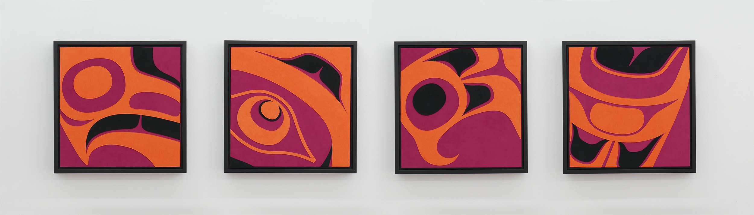 Deconstructed Eagle (Quadtych) (row view), 2019