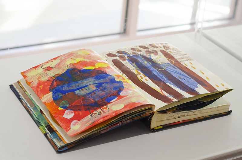 Book (detail) (made during international artist in residencies), 2012-2019