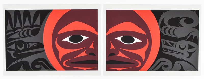 Blood Red Moon (diptych), 2019