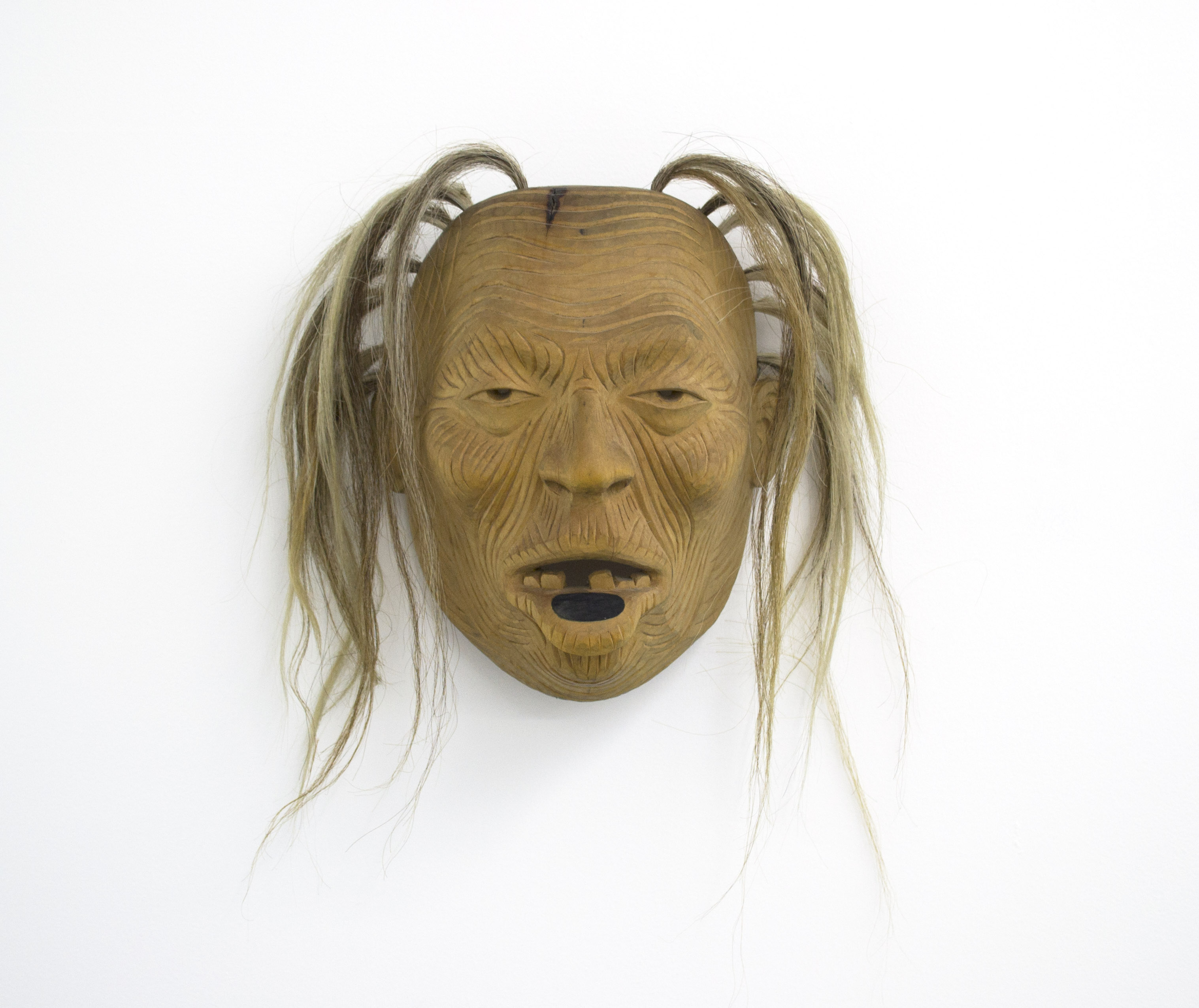Beau Dick, Rich Woman, 1992, red cedar, horsehair, SOLD